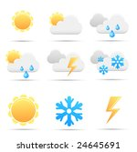 weather icons | Shutterstock .eps vector #24645691