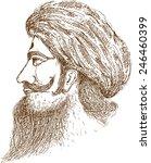 indian man colour | Shutterstock .eps vector #246460399