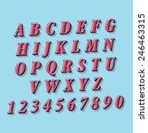 retro style alphabet | Shutterstock .eps vector #246463315