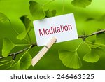 the word  meditation in a... | Shutterstock . vector #246463525