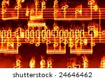 great image of music notes on... | Shutterstock . vector #24646462