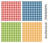 Checkered Tablecloth Seamless...