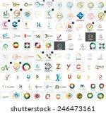 logo mega collection  abstract... | Shutterstock .eps vector #246473161