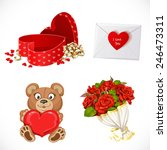 Icons Set Gifts Valentine's Da...