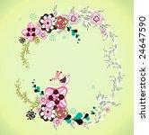 cool flora wallpaper   Shutterstock .eps vector #24647590