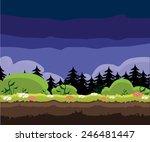 game level night time landscape ...