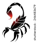 tattoo scorpio | Shutterstock .eps vector #246483679