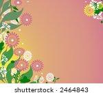 feminine floral background design - stock photo