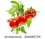 Cherry Tomatoes. Ripe Red Mini...