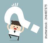 dilemma of businessman  flat... | Shutterstock .eps vector #246487375
