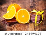 orange and chocolate on the... | Shutterstock . vector #246494179