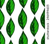 hand draw seamless leaves | Shutterstock .eps vector #246494605