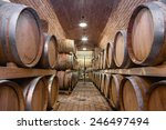 underground wine cellar shallow ... | Shutterstock . vector #246497494