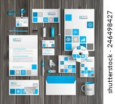 white corporate identity... | Shutterstock .eps vector #246498427