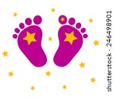 baby feet with stars | Shutterstock .eps vector #246498901