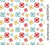 seamless pattern. many colored... | Shutterstock .eps vector #246505924