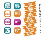 sale buttons and icons | Shutterstock . vector #246512071