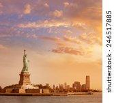 statue of liberty new york... | Shutterstock . vector #246517885