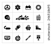 set icons of karting isolated... | Shutterstock .eps vector #246518695
