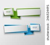 origami paper infographic... | Shutterstock .eps vector #246524491