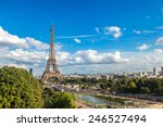 aerial view of the eiffel tower ... | Shutterstock . vector #246527494