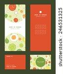 vector fresh salad vertical... | Shutterstock .eps vector #246531325