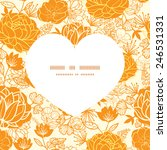 vector golden art flowers heart ... | Shutterstock .eps vector #246531331
