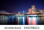 ferry building and bay bridge... | Shutterstock . vector #246538621