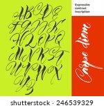 alphabet letters  uppercase.... | Shutterstock .eps vector #246539329