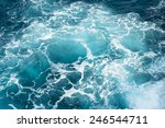 deep blue ocean water in... | Shutterstock . vector #246544711