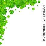 Green Clovers Vector Corner...
