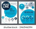 set of vector template for... | Shutterstock .eps vector #246546394