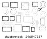 set of postal stamps and... | Shutterstock .eps vector #246547387