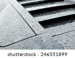 droplets on black sport car... | Shutterstock . vector #246551899