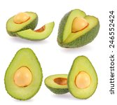 collection of avocado isolated... | Shutterstock . vector #246552424