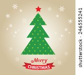 merry christmas card  with... | Shutterstock .eps vector #246555241