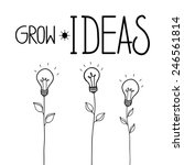 grow ideas. hand drawn vector... | Shutterstock .eps vector #246561814