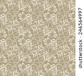 beige antique baroque vintage... | Shutterstock .eps vector #246564997