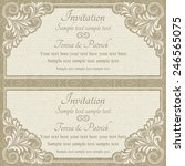 baroque invitation card in old... | Shutterstock .eps vector #246565075