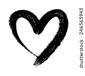 doodle hand drawn heart shaped...   Shutterstock .eps vector #246565945