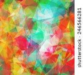 abstract geometric summer... | Shutterstock .eps vector #246566281