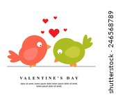 happy valentines day card vector | Shutterstock .eps vector #246568789