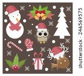 christmas designing element set.... | Shutterstock .eps vector #246569575