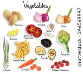 illustration set vegetable with ... | Shutterstock .eps vector #246569947