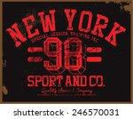 college tee graphic   Shutterstock .eps vector #246570031