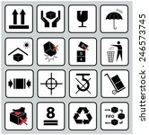 set of packaging symbols  this... | Shutterstock .eps vector #246573745