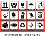set of packaging symbols  this... | Shutterstock .eps vector #246573751