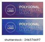 two horizontal polygonal banners | Shutterstock .eps vector #246576697