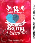 happy valentine's day card with ... | Shutterstock .eps vector #246580417