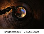 Workers Are Laying Pipes At A...